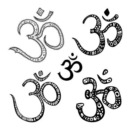 Om symbol. Aum, ohm. Illustration