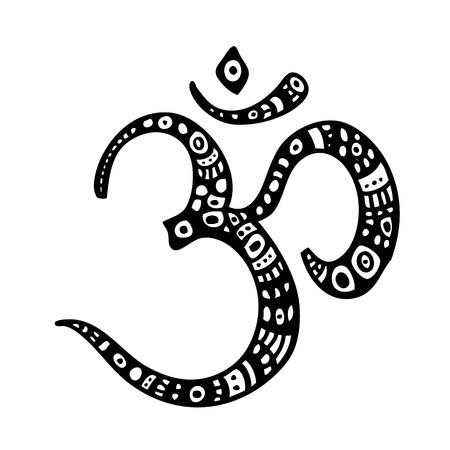 Om symbol. Aum, ohm. Illustration