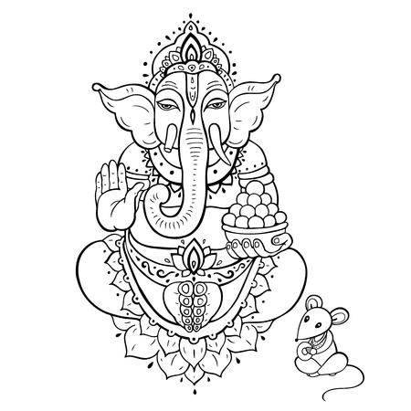Ganapati. Lord Ganesha  イラスト・ベクター素材