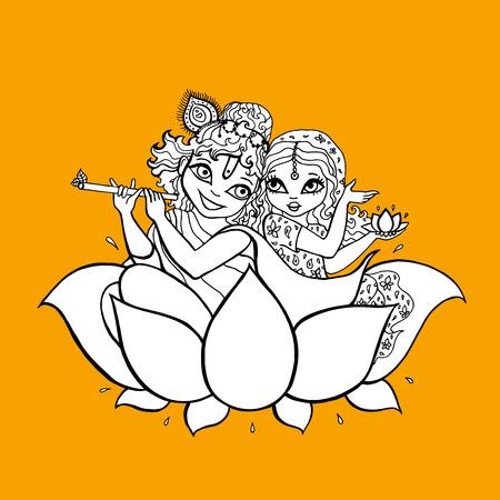 Radha, Krishna. Hindu God Stock Photo