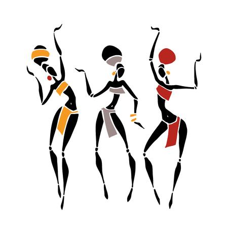 Afrikanische schöne Frauen Vektorgrafik