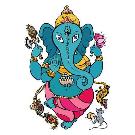 Ganapati Meditation in lotus pose