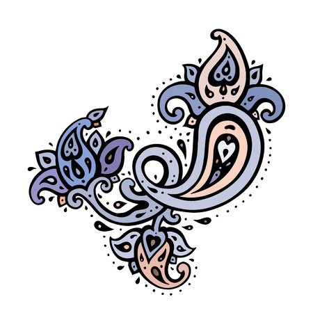 Paisley Ethnic ornament. Vector illustration isolated