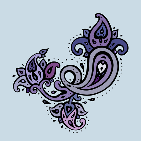 Paisley background Hand Drawn ornament.