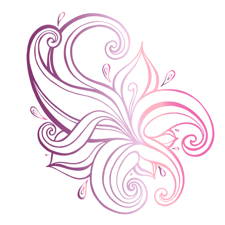 Paisley ethnic ornament vector illustration isolated.