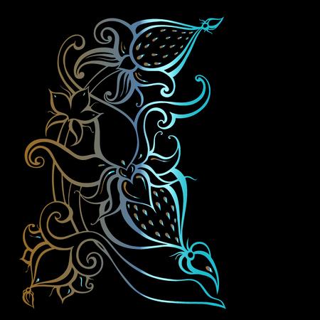 Paisley of Hand Drawn Boho ornament. Vector illustration