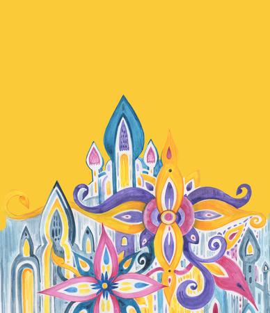 Watercolor pattern. Hand drawn illustration
