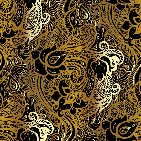 Paisley background. Hand Drawn ornament illustration.