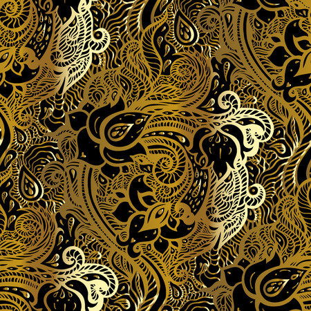 Paisley background. Hand Drawn ornament illustration.