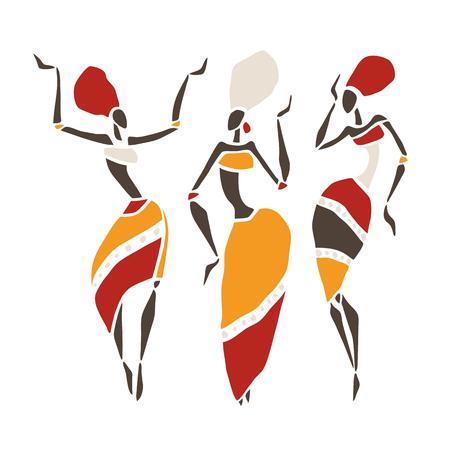 Belle silhouette de danseurs