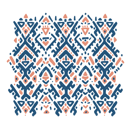 Ikat ornament. Tribal pattern Vector Illustratie