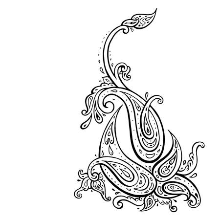 Paisley. Hand Drawn Boho ornament. Ilustrace