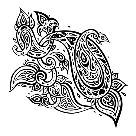 Paisley. Ethnic ornament. Illustration