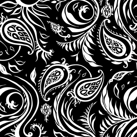 Paisley Hand Drawn pattern. Beautiful seamless background. Elegant vintage Pattern