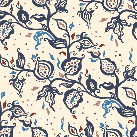 Paisley, Abstract Flower. Hand Drawn luxury old fashioned floral ornament, Victorian vector background. Can be used for wallpaper, website background, textile, phone case print