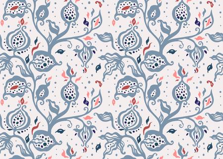 Paisley. Ethnic ornament. Hand Drawn Boho Vector illustration. Vintage fashion seamless pattern Illustration