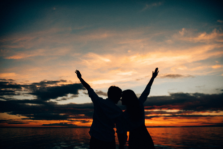 Lovers enjoy life and love each other