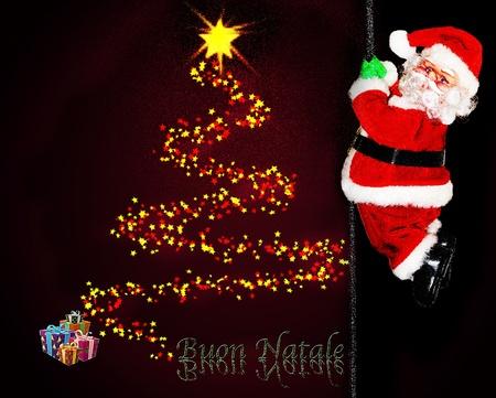 albero: Buon Natale da Babbo Natale Stock Photo