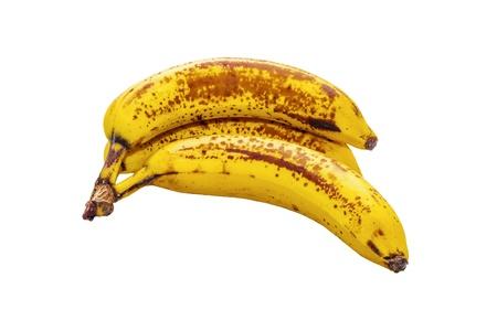 Aufgrund banane su sfondo bianco Standard-Bild