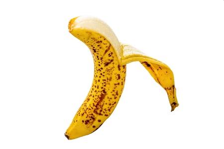 APPENA Banana sbucciata su sfondo bianco
