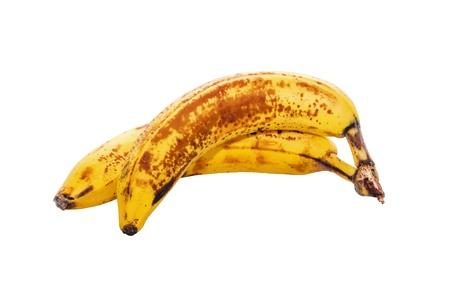 Due banane su Sfondo bianco Archivio Fotografico