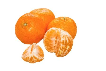Tre Mandarini e Uno sbucciato e Aperto