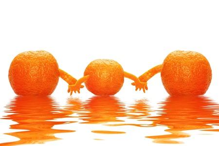 Tre Mandarini saluto Per tutta la Famiglia