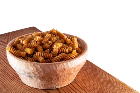spelled: Fusilli grains and spelled Stock Photo
