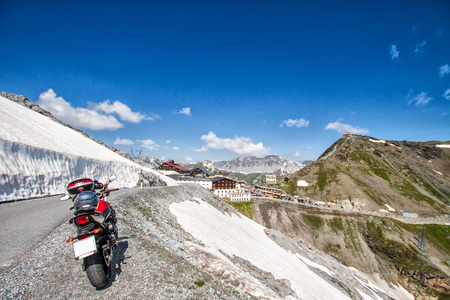 On the road to the Stelvio Pass