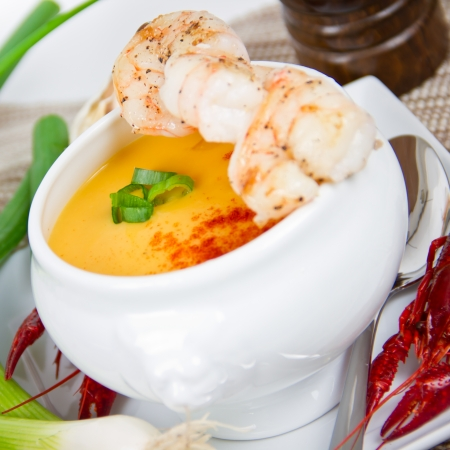 lobsters: soup with shrimp