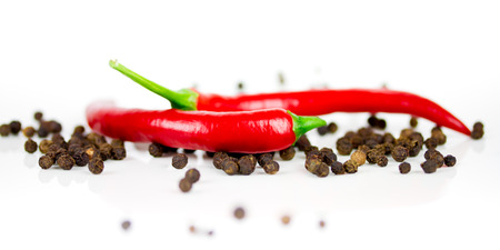 chili and pepper Stock Photo