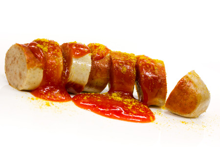 fried sausage 版權商用圖片