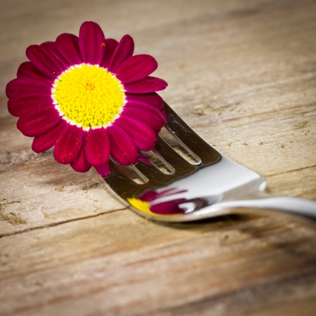 fork with flower