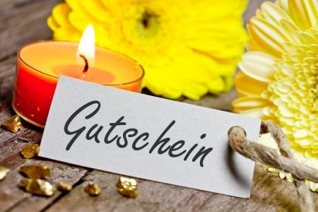 Gutschein Standard-Bild - 25132265