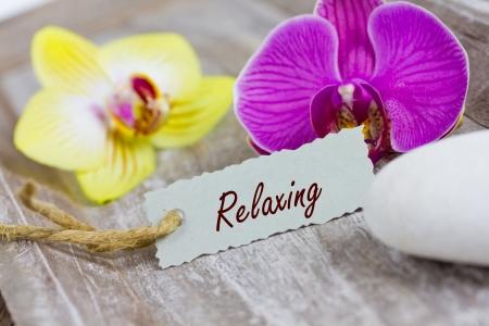 auszeit: relaxing Stock Photo