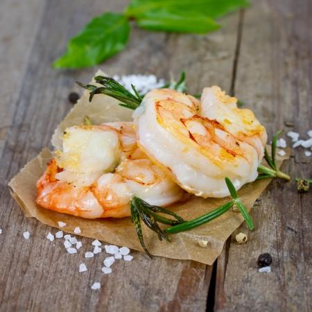 grilled shrimp 版權商用圖片