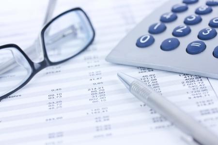 calculator money: office desk