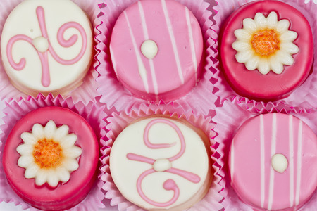petit: petit fours Stock Photo
