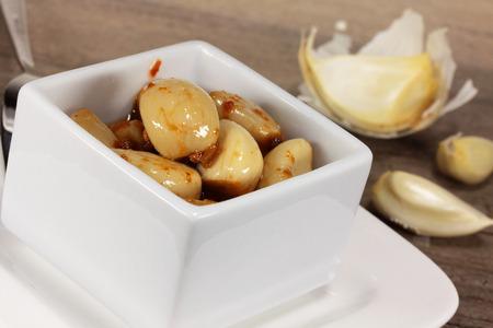 lowering: garlic Stock Photo