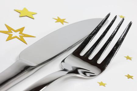santa cena: tenedor y cuchillo