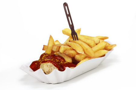 french fries with sausage