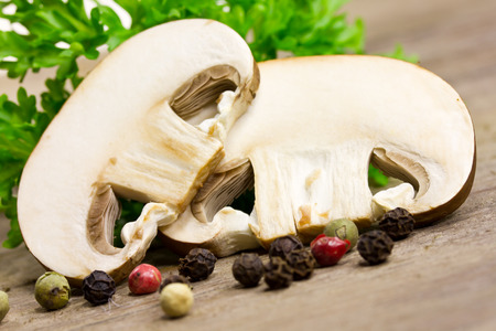 lamellar: sliced mushrooms Stock Photo