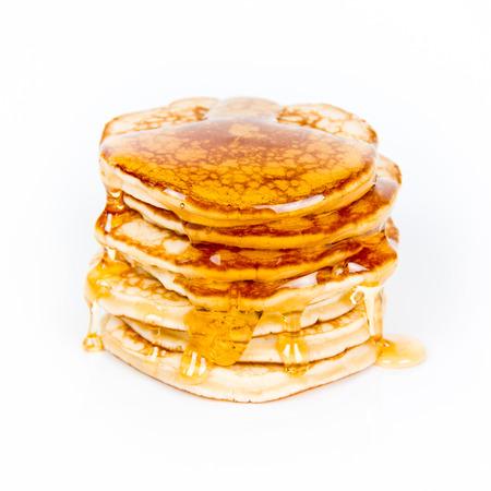 pancakes on white  photo