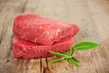 a rare: rare steak Stock Photo