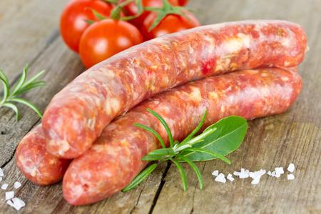 pork sausage: sausages