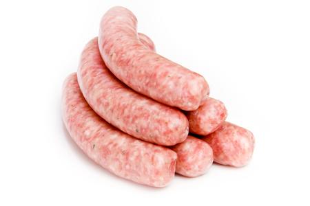 raw sausages 版權商用圖片