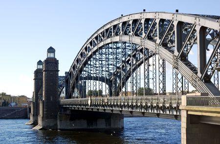 st  petersburg: St. Petersburg. Neva. Peter the Great Bridge.