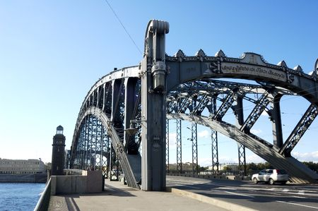 the silence of the world: St. Petersburg. Neva. Peter the Great Bridge.