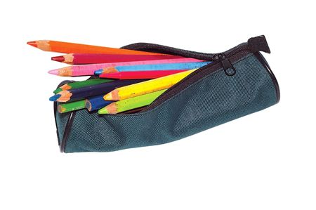 Pencil-case with pencils. Stock Photo - 2137805