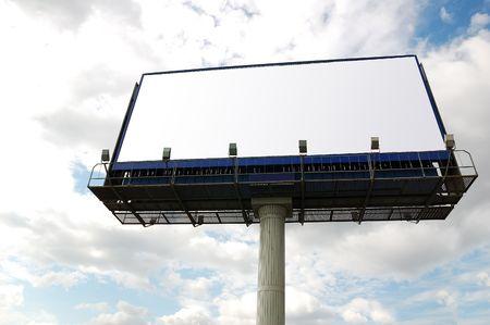 Billboard sign. Stock Photo